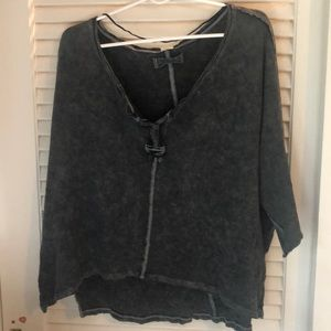 WE THE FREE black/gray washed tunic top